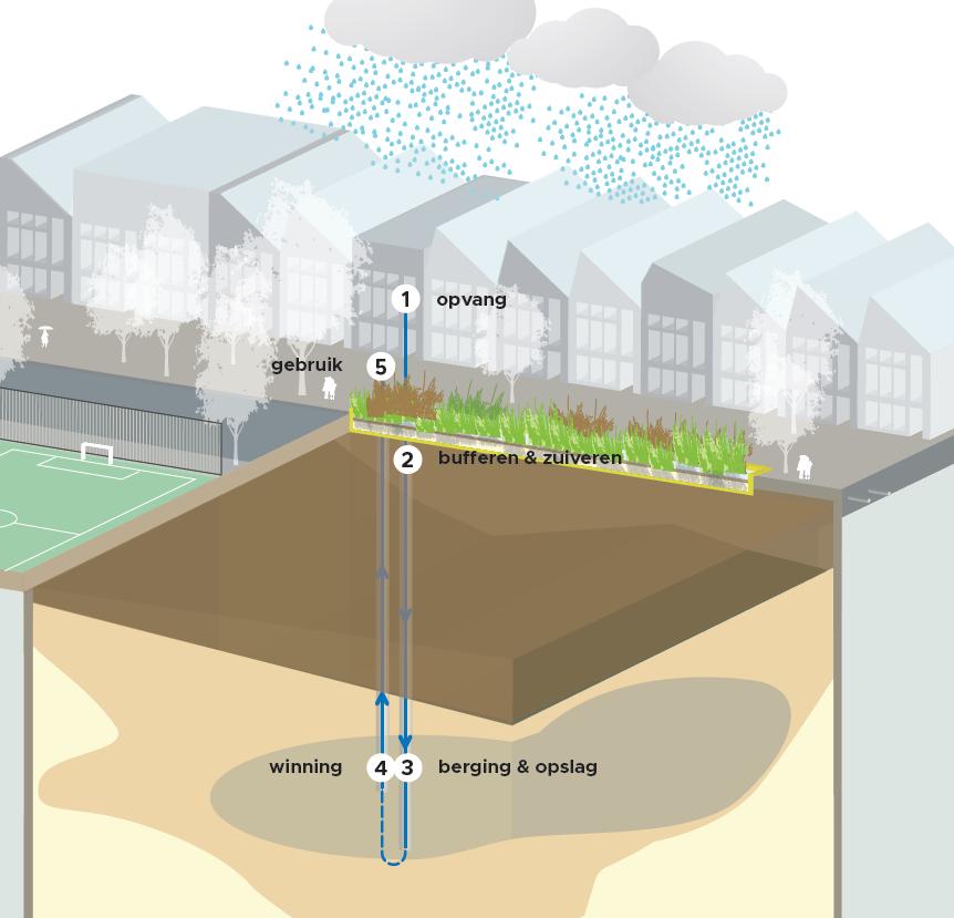 Concept van Urban Waterbuffer