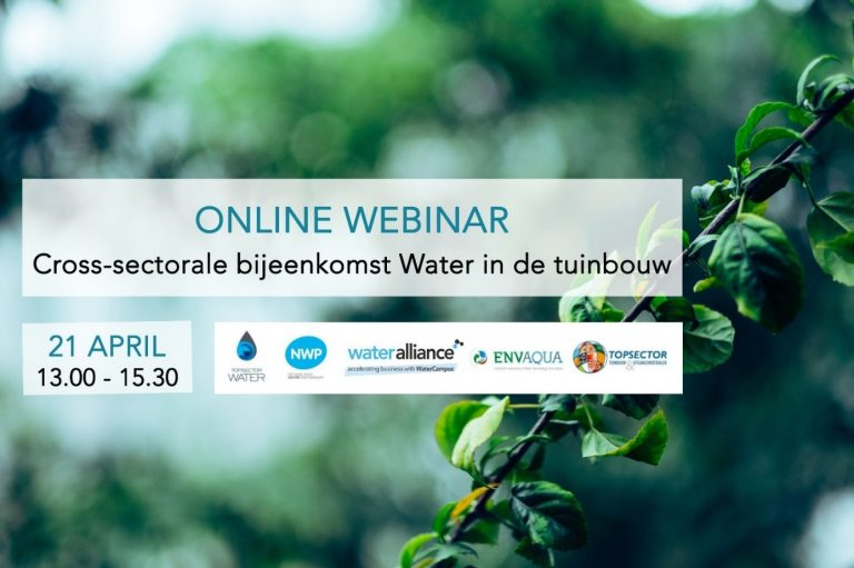 Webinar Water in de tuinbouw – 21 april